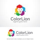 Couleur Lion Logo Template Design Vector, emblème, concept de construction, symbole créatif, icône illustration libre de droits
