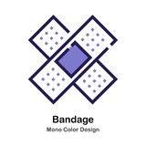 Couleur mono de bandage illustration stock