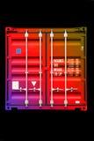 Couleur multicolore 01 de conteneur Image libre de droits