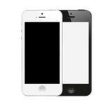 Couleur noire et blanche d'IPhone 5 neufs d'Apple illustration de vecteur