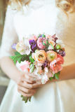 Couleur nuptiale de bouquet Photo stock
