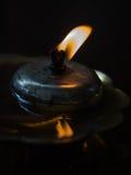 Couleur orange de contre-jour de lampe à pétrole Image stock