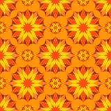Couleur orange sans couture Mandala Pattern florale de vecteur Image libre de droits