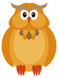 Couleur Owl Illustration d'automne de Halloween Photos stock