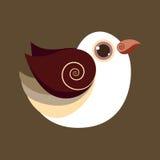 Couleur préhistorique abstraite mignonne d'oiseau de colombe Photographie stock libre de droits