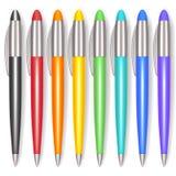 Couleur réaliste Pen Set Vecteur illustration stock