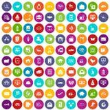 100 couleur réglée de service postal par icônes illustration stock
