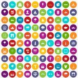 100 couleur réglée de vue par icônes illustration stock