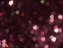 Couleur rose de fond de bokeh de coeur photos stock