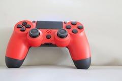 Couleur rouge de contrôleur de jeu Image stock