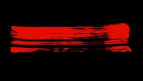 Couleur rouge de peinture de brosse Image libre de droits