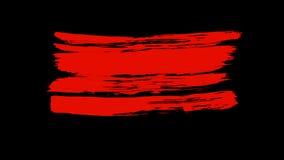 Couleur rouge de peinture de brosse Image stock