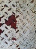 Couleur rouge et blanche de surface métallique photographie stock libre de droits