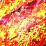 Couleur rouge et jaune de fond de modèle abstrait de tryangle illustration stock