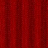Couleur rouge tricotée par fil de modèle Images stock