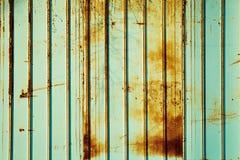 Couleur rouillée de menthe de barrière Fond en bon état de couleur Photographie stock libre de droits