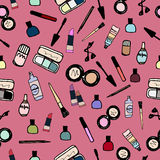 Couleur sans couture de modèle de cosmétiques de maquillage Image libre de droits