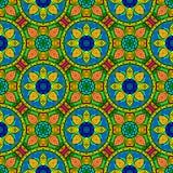 Couleur sans couture Mandala Pattern florale de vecteur Photos stock