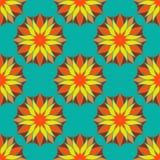 Couleur sans couture Mandala Pattern florale de vecteur Photographie stock