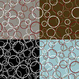 Couleur sans couture Ring Pattern Images stock