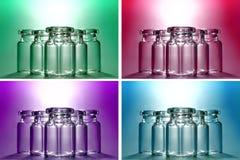 couleur 4 souhaitant des bouteilles Photos libres de droits