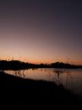 Couleur sur le lac Photo stock