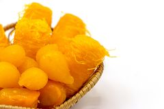 Couleur thaïlandaise de jaune de dessert Image libre de droits