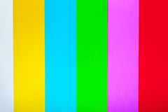 Couleur TV sans le fond de signal Photographie stock
