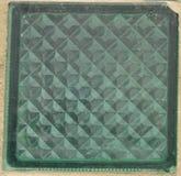 Couleur verte de brique en verre Image libre de droits