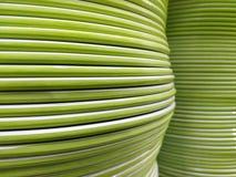 Couleur verte de l'ensemble de plat aux rangées verticales photographie stock libre de droits