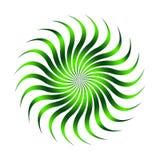 Couleur verte de logo de fleur de Sun Photos libres de droits