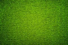 Couleur verte de tissu de laine de texture Images stock