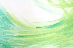 Couleur verte peinte de fond abstrait Photos libres de droits