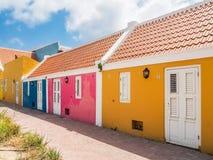 Couleur - vues du Curaçao de secteur de Petermaai image stock