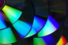 Couleurs abstraites de DVD Photo stock