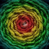 Couleurs approximatives d'abstrack de corde Photos stock