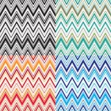 Couleurs assorties de modèle de zigzag Image stock