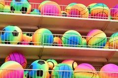 Couleurs assorties de tous les types de boules de rebondissement photo libre de droits