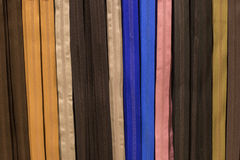 Couleurs assorties par tirettes Photos stock
