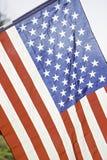 Couleurs blanches de drapeau américain et bleues rouges Images libres de droits