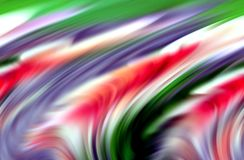 Couleurs bleues pourpres vertes rouges abstraites, nuances et lignes fond Lignes dans le mouvement illustration stock