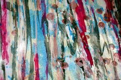 Couleurs bleues rouges douces de cire, fond créatif de contrastes Photo stock