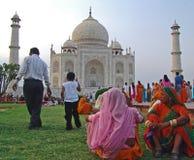Couleurs chez le Taj Mahal Photo libre de droits