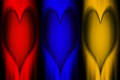 Couleurs Coeur-Primaires d'art Photo libre de droits