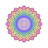 Couleurs d'arc-en-ciel de Chakra de couronne d'isolement illustration stock