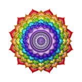 Couleurs d'arc-en-ciel de Chakra de couronne d'isolement Photographie stock libre de droits