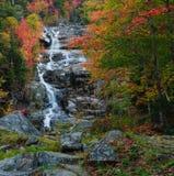 Couleurs d'automne à la cascade argentée images libres de droits