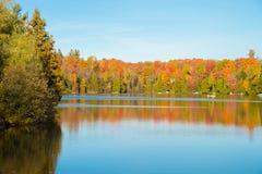Couleurs d'automne au Québec, Canada Photo stock