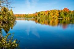 Couleurs d'automne au Québec, Canada Photographie stock libre de droits
