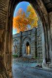Couleurs d'automne de la chapelle de mémorial de Washington Image libre de droits